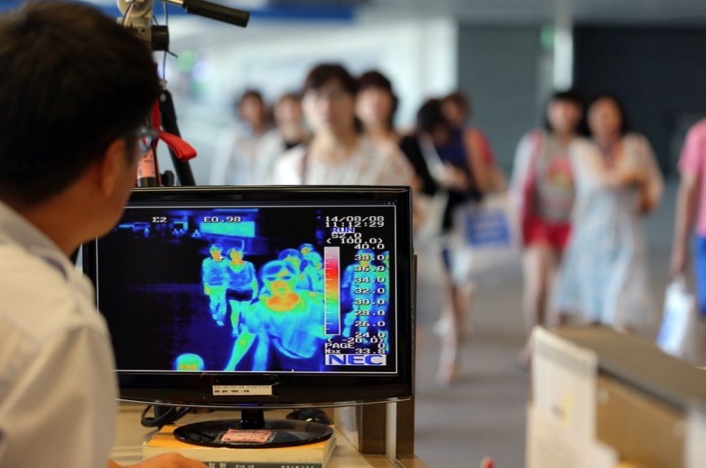 Efficiency of using thermal cameras in a building